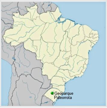Localização do Geoparque no Brasil