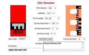 AGFACOLOR 100 a DXn Simulator oldalán