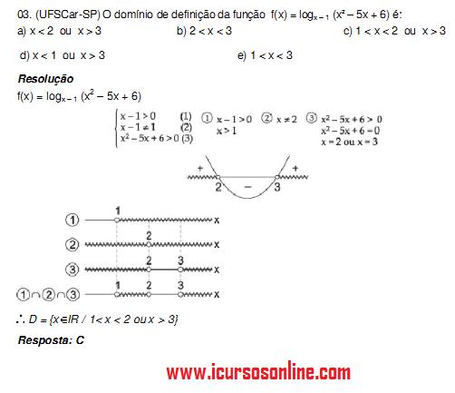 exercicio função logaritmica