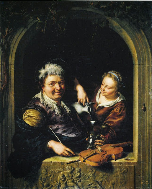 Willem van Mieris - The Merry Toper