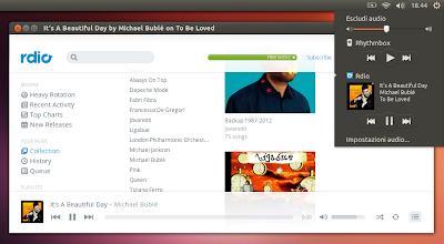 Rdio in Ubuntu Linux