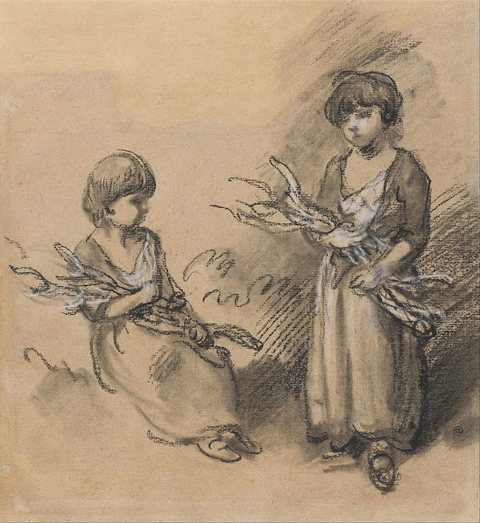 Thomas Gainsborough - Studies of Girls Carrying Faggots
