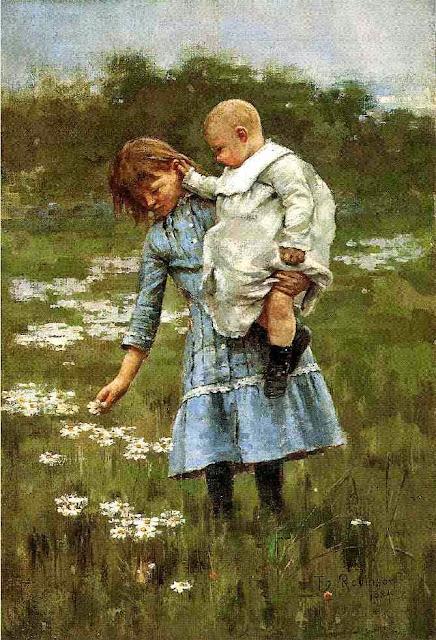Theodore Robinson - In a Daisy Field