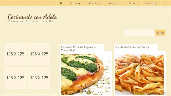 Cocinando con Adela Blogger Template