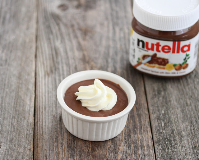 one bowl of Nutella Mousse with a package of Nutella
