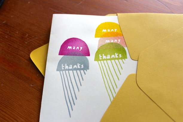 making yellow owl workshop stamp set thank you notes paper source curry envelope