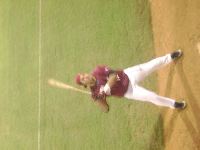 Ericks Almonte bats during warm up of Dominican Winters Baseball League