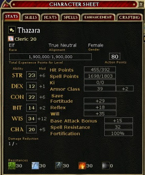 Thaz's stats