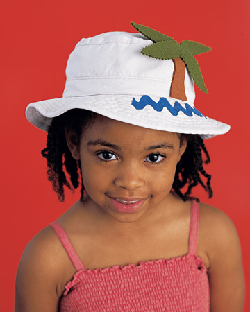 Protect that sweet face from the sun's rays with a jazzed up bucket hat.