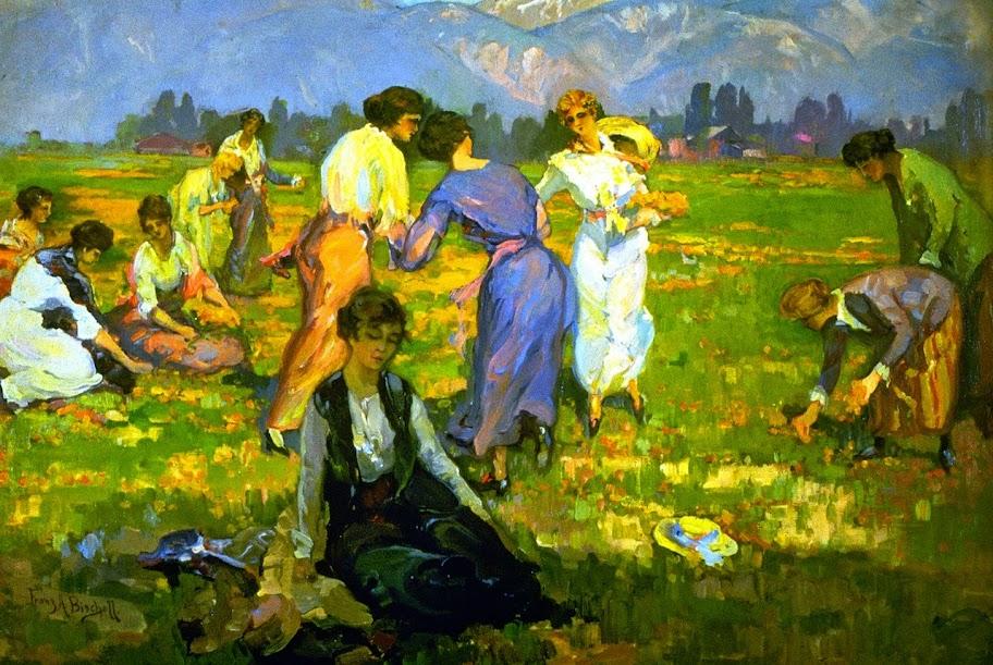 Franz Bischoff - Picking Poppies, Pasadena