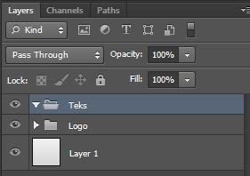 Buat sebuah folder baru di pallete layer