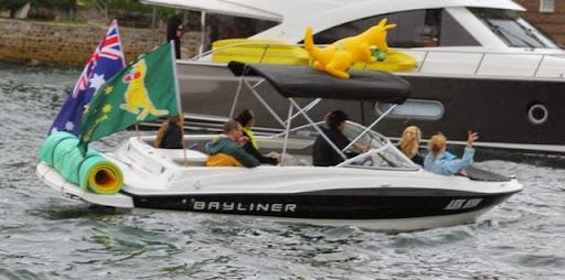 Spectator craft. Celebrating Australia Day in Sydney Harbour