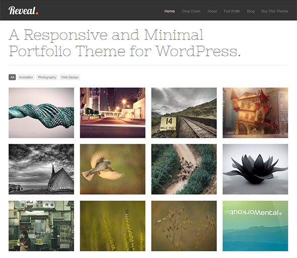 Reveal Grid-Based WordPress Theme