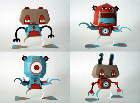 Gears Monsuta Paper Toy