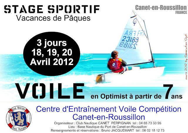 Stage voile Optimist compétition Canet-en-Roussillon 66 école_de_sport Génération_opti
