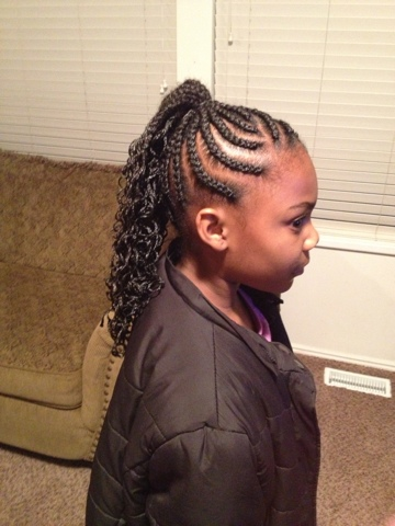 Cornrows Braids Extensions: Cornrows using crochet braids