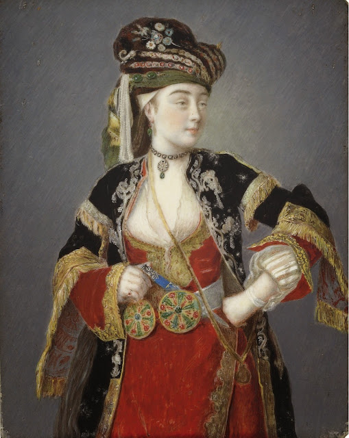 Jean-Étienne Liotard - Presumed portrait of Laura Tarsi in Turkish dress