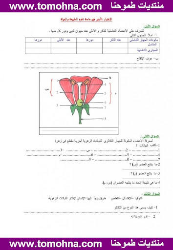اختبار الفصل الثالث في العلوم الطبيعية للسنة الاولى متوسط النموذج 6 2.jpg