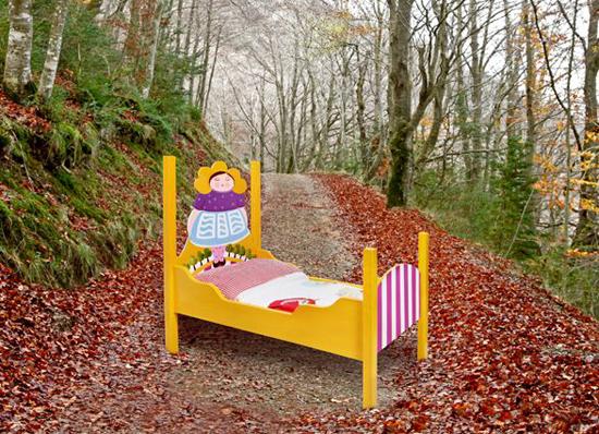 Camas infantiles para decoración.