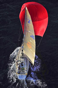 J/133 sailing Rolex Middles Sea race with spinnaker