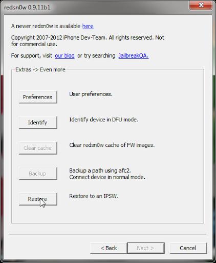เทคนิคการดาวน์เกรด iOS 5.1.1 ลงมาเป็น iOS 5.0.1 เพื่อทำการ Jailbreak Jailip2-03