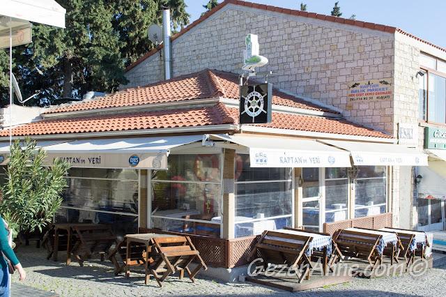 Kaptan'ın Yeri restoranı, Alaçatı Çeşme İzmir