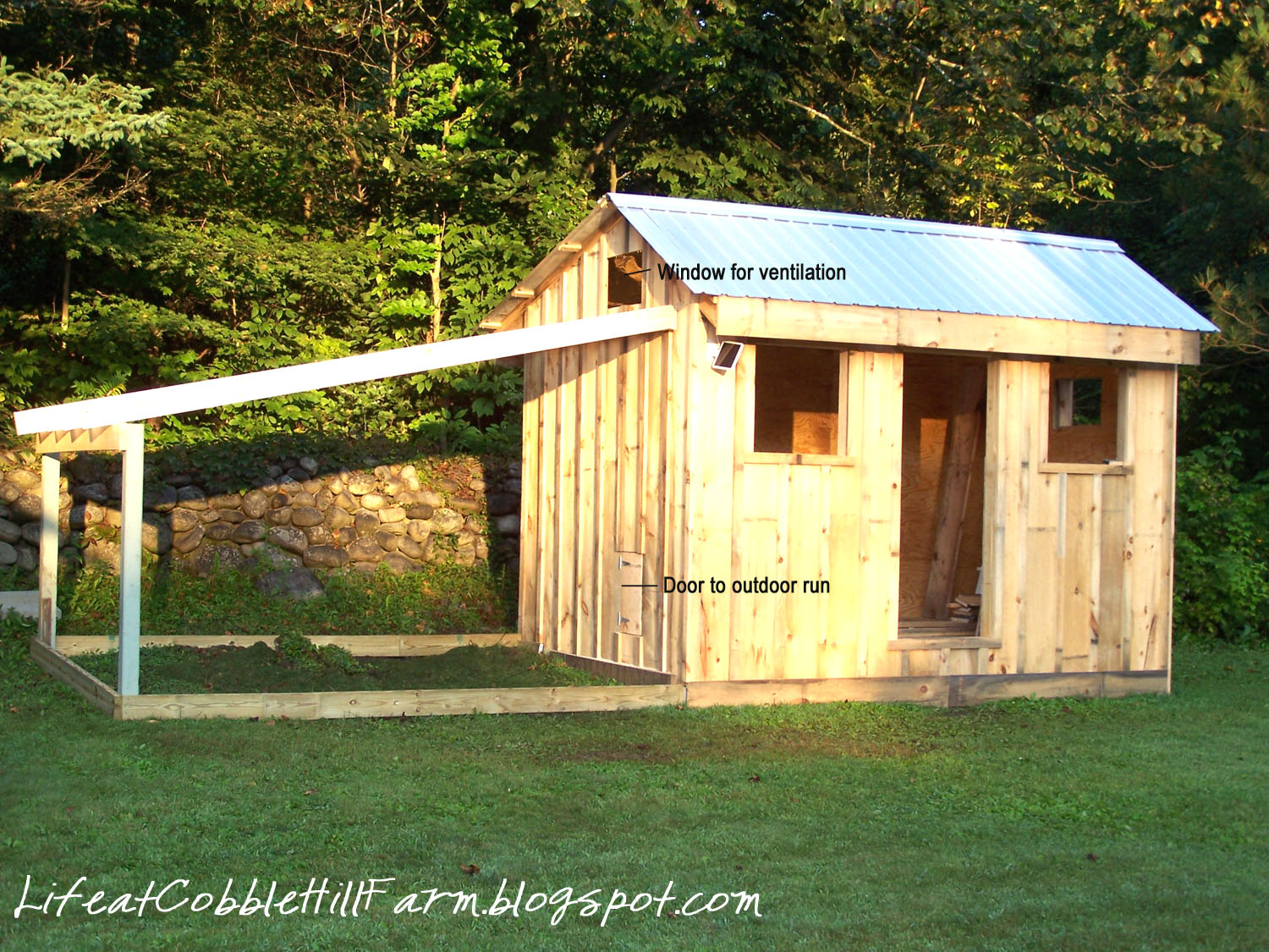 Chicken coop 101 thirteen lessons learned life at for What goes into building a house