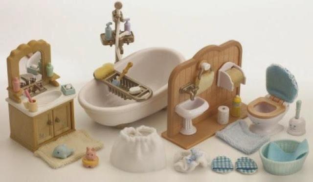 Bộ sản phẩm Đồ dùng nhà tắm của búp bê Sylvanian Families