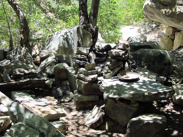 another elaborate rock setup for a camp along the creek