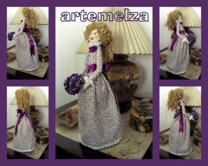 artemelza - boneca dama antiga