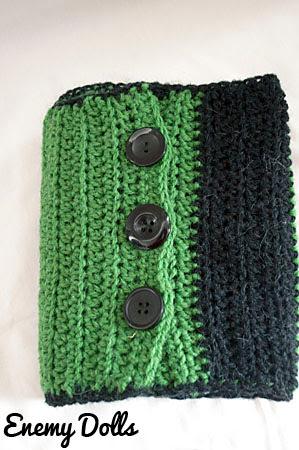 Bufanda de rayas a ganchillo