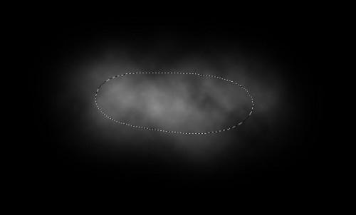 Filtro Clouds (Nuvens) em uma pequena seleção arredondada