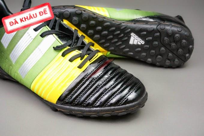 bán buôn giày bóng đá Nitrocharge 3.0 TF Đen Xanh Vàng
