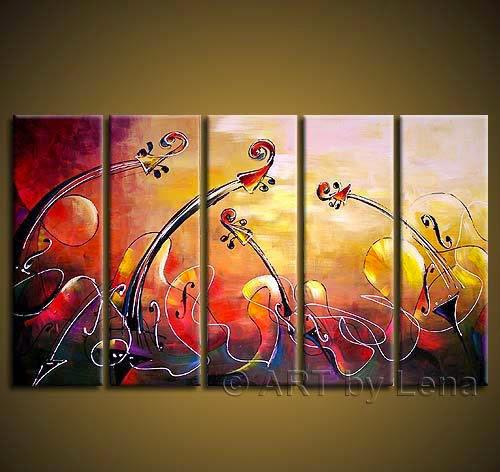 Hand-painted Hi-Q modern home decor abstract canvas art