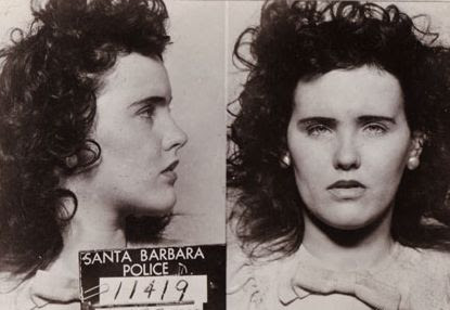 Элизабет Шорт (фото сделанное во время ареста, 23 сентября 1943 г.)