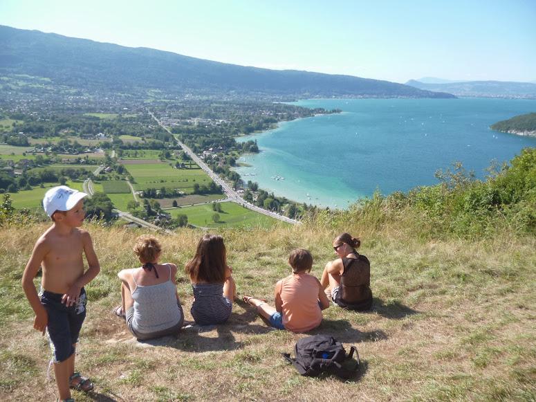 Lac d'Annecy depuis le Roc de Taillefer