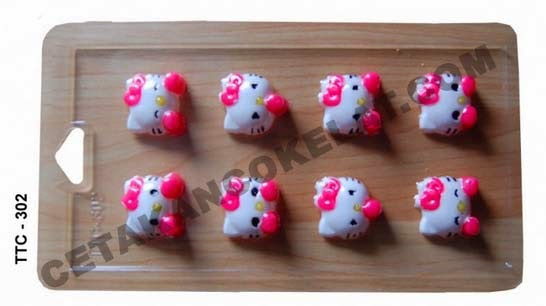 Cetakan Coklat TTC302 Hello Kitty