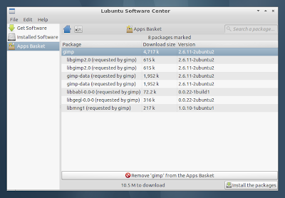 Lubuntu Software Center
