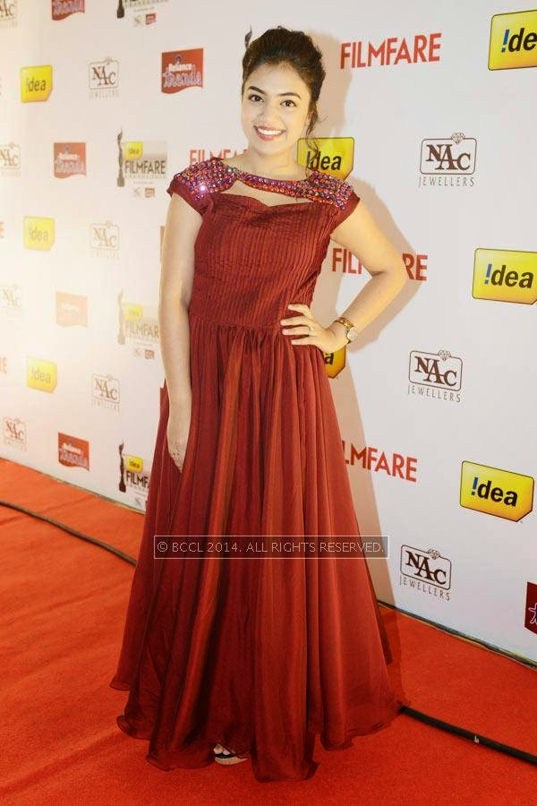 Nazriya Nazim at the 61st Idea Filmfare Awards South, held at Jawaharlal Nehru Stadium in Chennai, on July 12, 2014.