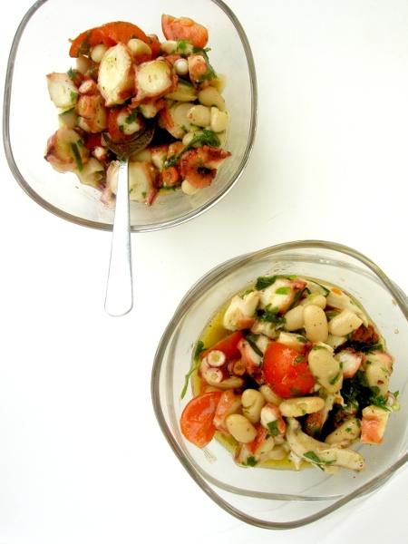 insalata di polpo e fagioli cannellini