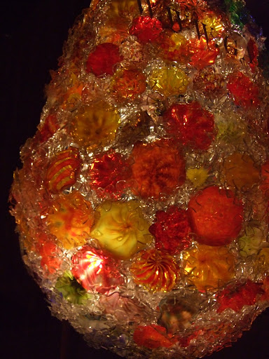 Chihuly -like glass work.  This one is near 5 feet wide and 8 feet tall