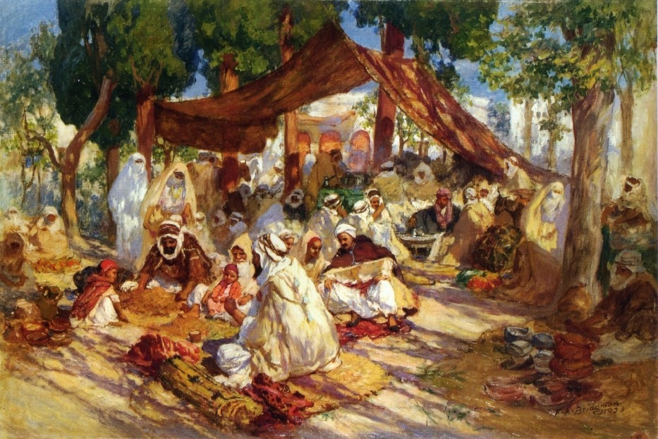 Frederick Arthur Bridgman - Market Scene