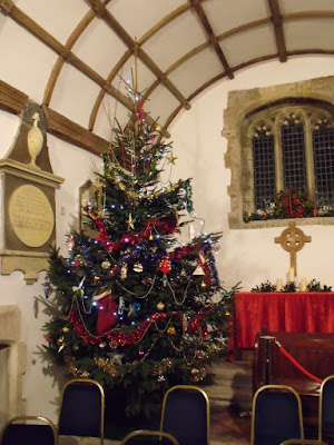 The Christmas Tree at St Illtyd last year