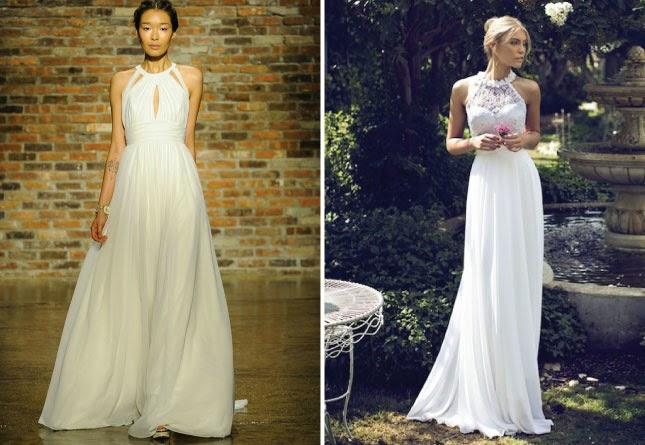 Платье халтер