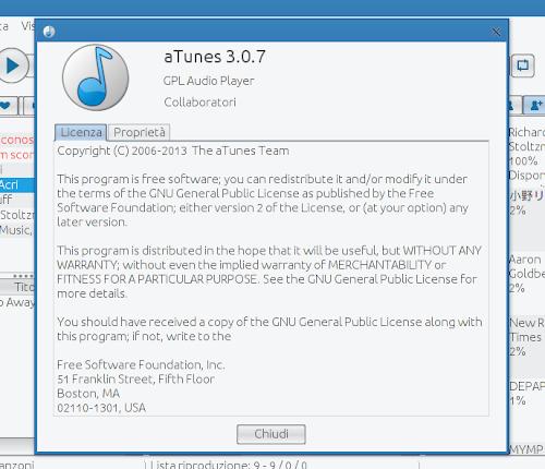aTunes 3.0.7 - info