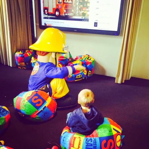Fireman Sam Beanbags at the Fireman Sam Ocean Rescue Event