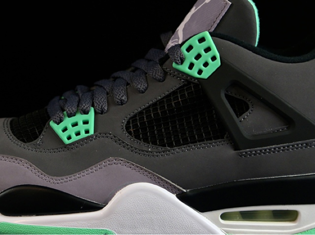 """aaf7f2aadf79f7 Alright so the whole """"Green Glow"""" Air Jordan 4 thing might be just a little  bit misleading. Yes that s the official color for this brand new pair  that s ..."""