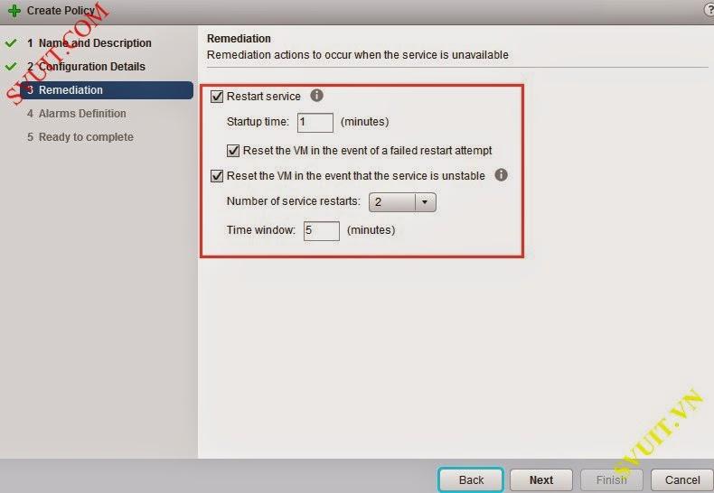 Configure policy vSphere app Ha (8)