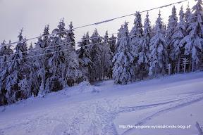 na zdjęciu Zieleniec na narty wojskowy wyciąg