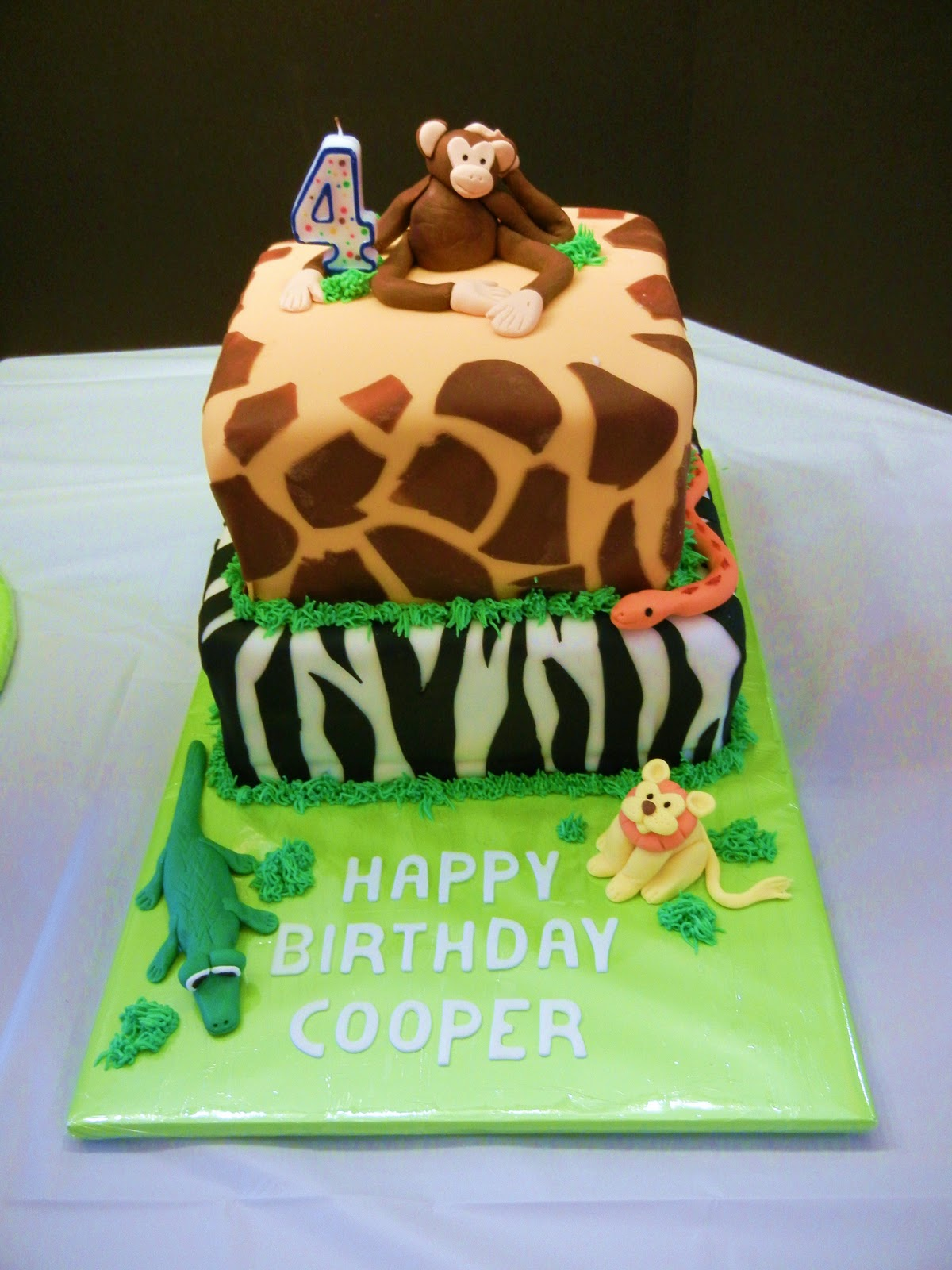 Incredible Striving For Confection Perfection Jungle Birthday Cake Personalised Birthday Cards Bromeletsinfo
